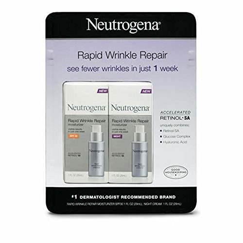 Neutrogena Rapid Wrinkle Repair Day and Night Moisturizer (Pack of 2) with Ayur Product in Combo