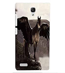 ColourCraft Horse with Feathers Design Back Case Cover for XIAOMI REDMI NOTE