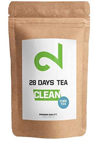 Dual 28 Tage Puretox Tee Kur | Auch Ohne Sport | Diät Helfer | Grüner Tee Enthalten | Für Frau Und Mann | Leckere Kräutermischung | Natürlich | Hergestellt In Deutschland | 85g Loser Blatt-Tee