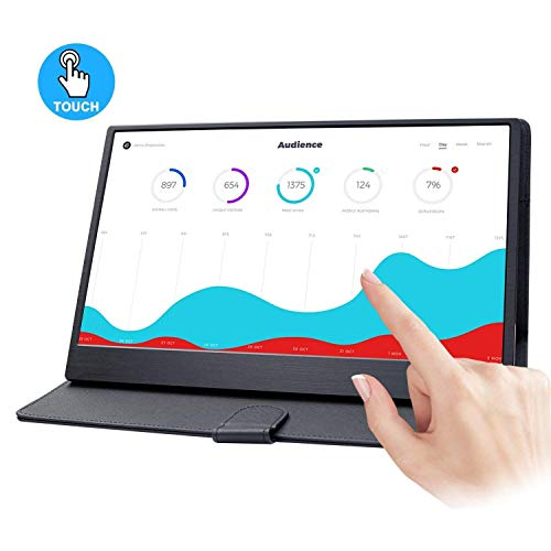 WIMAXIT Monitor Touchscreen Notebook, 13.3 Zoll Ultrathin IPS 1920 X 1080 16: 9 Display, 10 Punkte Touch kapazitiv, HDMI/ USB Powered) Angetrieben/Eingebaute Lautsprecher Monitor Spiele