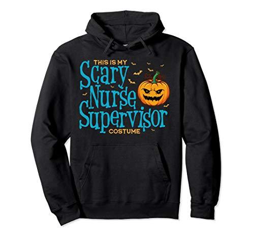 Dies ist Scary Nurse Supervisor Kostüm Halloween Pullover Hoodie (Kostüm Supervisor)