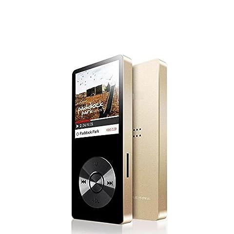 Cfzc 8 Go en métal Corps lecteur MP3 Haut-parleur intégré de lecture de musique Player (Mico carte SD extensible jusqu'à 64 Go) avec HD Casque/enregistreur