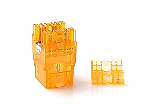CAT5e RJ45 Transparent Unshielded Keystone Jacks Modul für Faceplate & Wandbox & Patch Panel 10pcs / pack (Orange)
