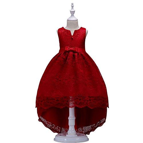 Misshow Konfirmationskleid Mädchen Spitzenkleid Prinzessin Festzug Tutu Party Hochzeit Kleid Geburtstag Jahrestreffen