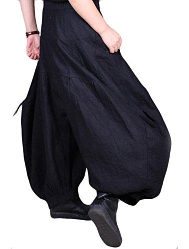 Vogstyle Donna Harem Pantaloni Cargo A Misure Grande Nero Stile-1 Nero