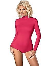 Damen Body Langarm Rollkragen Body Bodysuit Tanz Bodys von Gaia BDV023