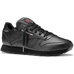 Reebok Classic Leather - Zapatillas de cuero para hombre, color negro (int-black), talla 42.5