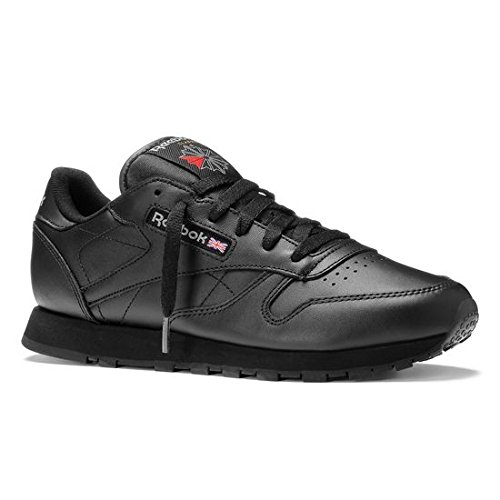 Reebok Unisex-Erwachsene Classic Leather Sneakers, Schwarz (Int-Black), 44.5 EU