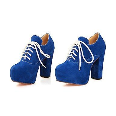 Talloni delle donne Primavera Estate Autunno Inverno Dress Altro similpelle ufficio & carriera Party & Sera Lace-upBlack tacco grosso Blu Viola Rosso Blue