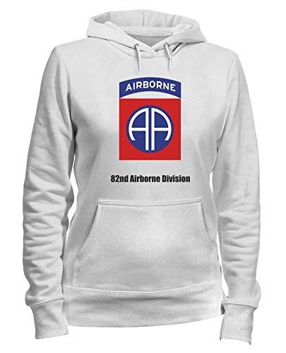 Speed Shirt Kapuzen-Sweatshirt Frauen Weiss TM0358 82ND Airborne Division USA - 82nd Airborne Shirts