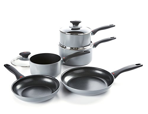 OXO Softworks Non-Stick Cookware Set, Aluminium, Black, 5 pcs