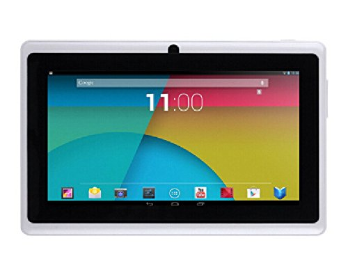 ibowin® P740 7 Pollici Tablet PC 1280x800 HD Risoluzione Quad Core 8Go Android 4.4 Bluetooth corpo Ultra-sottile (Bianco)