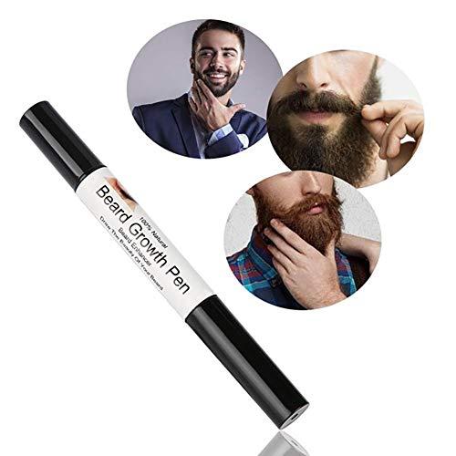 1 PC Barba y estética natural del pelo de la pluma de crecimiento en suero Barba aceite Enhancer facial Nutrición barba del bigote Productos de cuidado de belleza