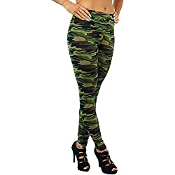 c1aa23396c Berry Leggings - para mujer Polainas de cintura alta Camo del camuflaje  militar del ejército del