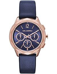 Karl Lagerfeld KL4010 - Reloj con correa de cuero, para mujer, color azul