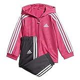 adidas Kids Infants Girls Jogger Set Lifestyle Shiny Pants Jackets School DJ1578