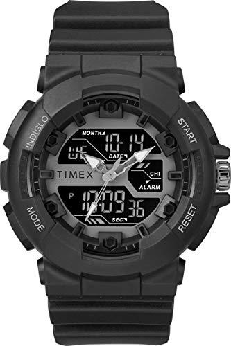 Timex Herren Digital Uhr mit Harz Armband TW5M22500 (Timex Herren-digitaluhr)