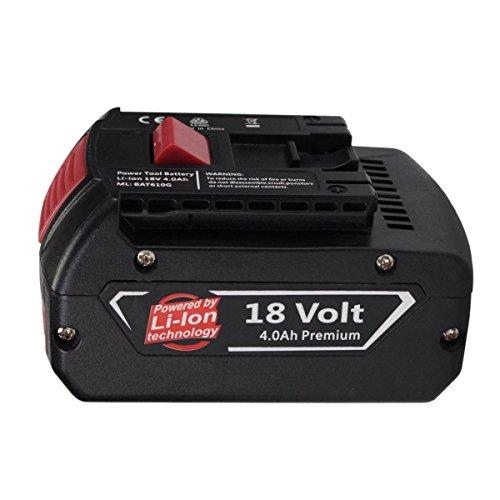 Preisvergleich Produktbild Forrat für Bosch Akku 18V 4.0Ah Li-ion Ersatzakku Werkzeug Akku BAT609 BAT618 2 607 336 235 2 607 336 091