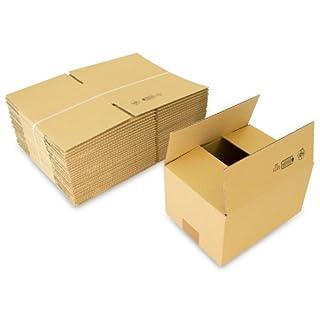 Faltkartons, 220 x 160 x 120 mm, 25 Stück | Kleine Kartons aus Wellpappe | Ideal für Warensendungen