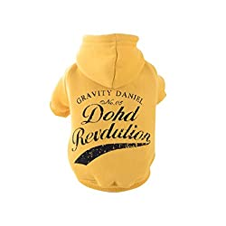 sunnymi Chirstmas Fashion Pet Dog Clothing Lovely Small Puppy Pet Dog Cat Clothes Autumn Winter Warmer Sweater Hooded Jacket Costume Apparel for Walking Jogging XXS XS S M L