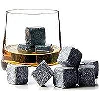 Whisky Stones, 9Pcs Set Velvet Bag Whiskey Rock Beer Stones Wine Cube Body and Base TM®