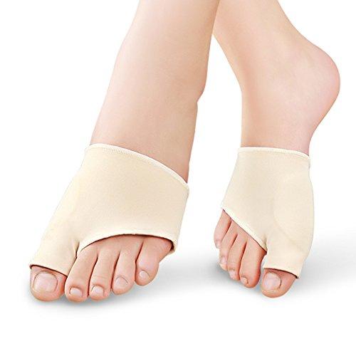 acmebuy (TM) 2pcs cuidado de pies juanete separador de dedos pantalla pie de silicona Hallux Valgus Pro plantillas ortopédica dedo gordo del pie cuidado herramienta