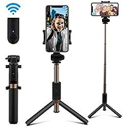 AFAITH Perche Selfie Stick Bluetooth Trépied Monopode avec Télécommande Rechargeable Support Téléphone pour iPhone 11/11 Pro/11 Pro Max/XS/X/8 Plus/8/7 Plus/6S Galaxy Note 8/S9/S8/S10 Xiaomi Huawei