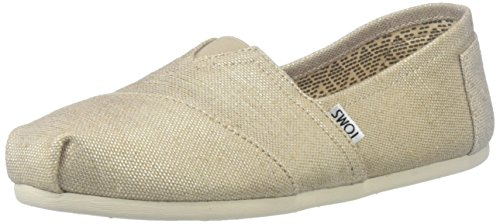 TOMS Women's Natural Metallic Burlap Alpargatas Low-Top Slippers, Grey (Natural Metallic), 6...