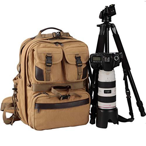 WUZHENG Extra Large Professional DSLR-Kamera & Laptop Travel Rucksack Gadget Bag w/Rain Cover für Digitalkameras, 15 Zoll Laptop, Tablet, Lens Kit für Full Frame Mirrorless Digital Camera,Khaki Extra Large Camera Bag