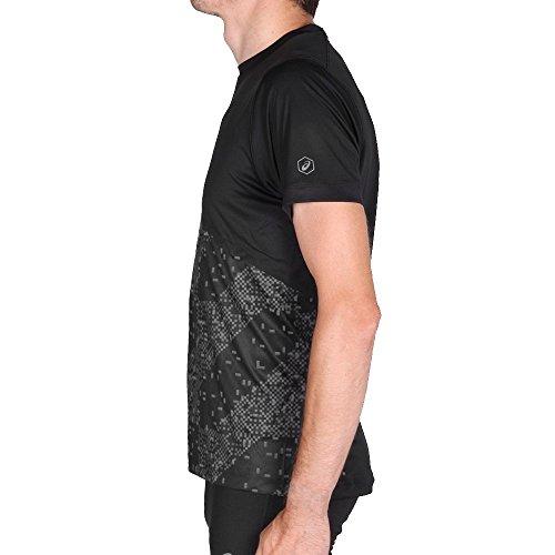 Asics Lite Show Shortsleeve Top Lite Stripe Performance Black Schwarz