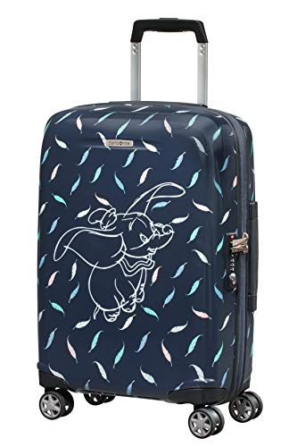 Samsonite Disney Forever - Spinner S Bagaglio a Mano, 55 cm, 31 L, Blu (Dumbo Feathers)