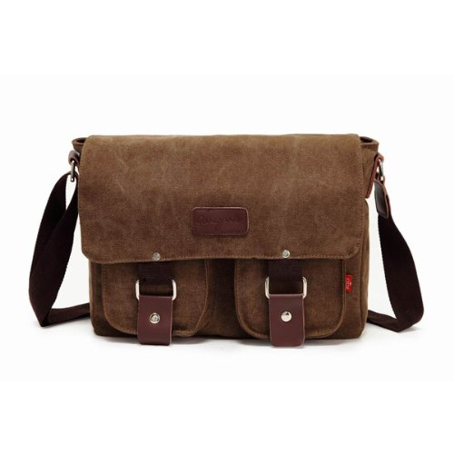 82e1288682 Bienna Vintage Canvas Messenger Bag Satchel Laptop Over Shoulder Crossbody  Sling
