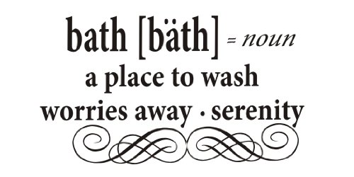 Newsee Decals Bad: A Place to Wash Worries Away, Serenity Vinyl Wall Art Inspirierende Zitate und...
