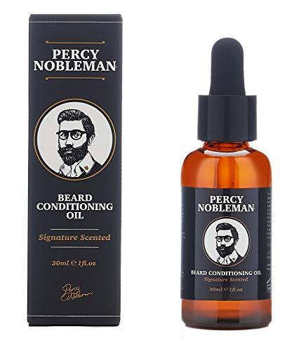 Huile pour barbe de Percy Nobleman, Mélange composé à 99% d'essences naturelles dérivées (30 ml)