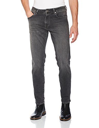 BOSS Orange Herren Straight Jeans Blau (Medium Blue 423)