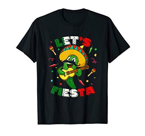 Cinco De Mayo Shirt Let's Fiesta Cactus Sombrero Hat Gift (Cinco De Mayo Hat)