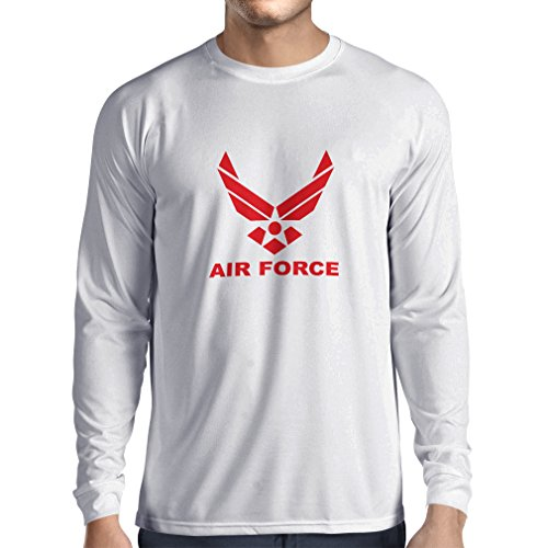 lepni.me Herren T Shirts United States Air Force (USAF) - U. S. Army, USA Armed Forces (XX-Large Weiß Rote)