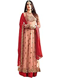 Lovender Fashion Women's Net Embroidery With Stone Work Semi-Stitched Salwar Suit Dress Material
