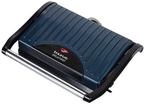 Taurus Grill & Toast Sandwichera, 700 W, Placas de Grill Antiadherentes, Color Azul y Negro