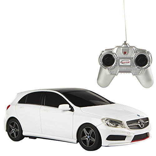 rastar-mercedes-benz-a-class-coche-teledirigido-escala-124-color-blanco-colorbaby-85051