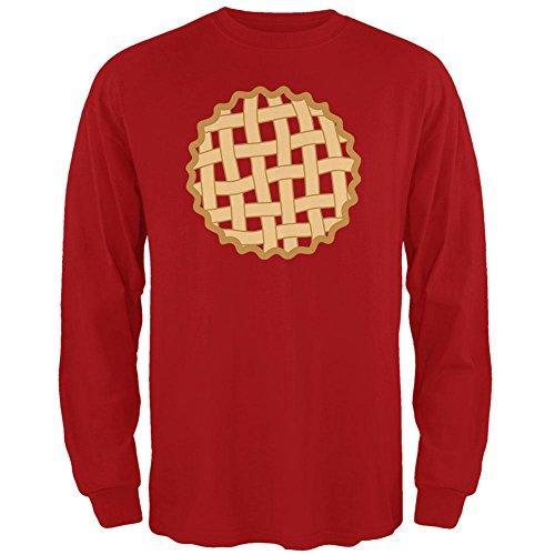Halloween Gitter Pie Kostüm Erdbeere Kirsche Mens Long Sleeve T-Shirt rot 2XL