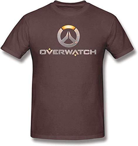 Andress Herren Generic Overwatch Logo Klassisches Komfort Kurzarm T-Shirt Coffee Medium