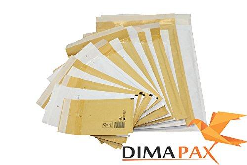 Luftpolstertaschen Versandtaschen braun weiß alle Größen wählbar dimapax (100 x D4, weiß)