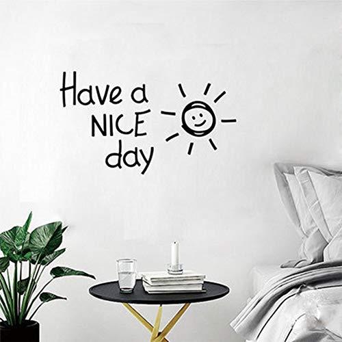 inen schönen Tag Ins Wind Einfache Brief Wandaufkleber Wohnzimmer Dekoration Aufkleber, 28X16 cm ()