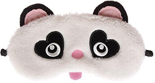 Augenbinde, flauschig, mit 3D-Ohren, niedliche Tiere, Katze/Eule/Panda oder Kaninchen Gr. Einheitsgröße, panda