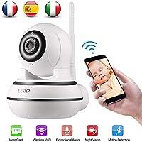 Cámara IP Wifi Cámara de Vigilancia 960P Visión Nocturna Detección de Movimiento Audio Bidireccional Alarma de