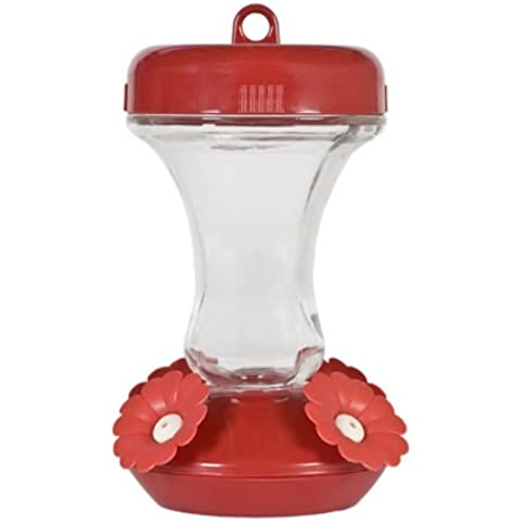 8 oz top-fill Hummingbird Feeder in vetro - Hummingbird Feeder Ant Moat