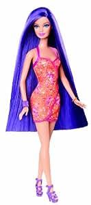 Barbie Long Hair Glam Purple Doll