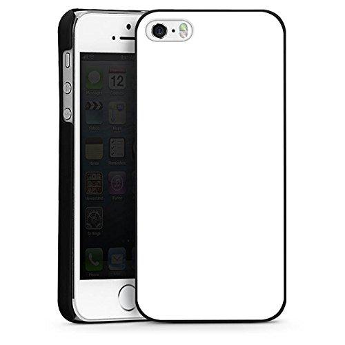 Apple iPhone 5 Housse Étui Silicone Coque Protection Blanc Blanc Blanc CasDur noir