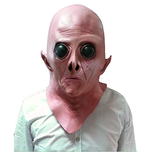 BulzEU Horror Maske Latex Scary Clown Alien Vollgesichtsmaske Cosplay Kostüm Halloween Creepy Party Horror Requisiten Kostüm
